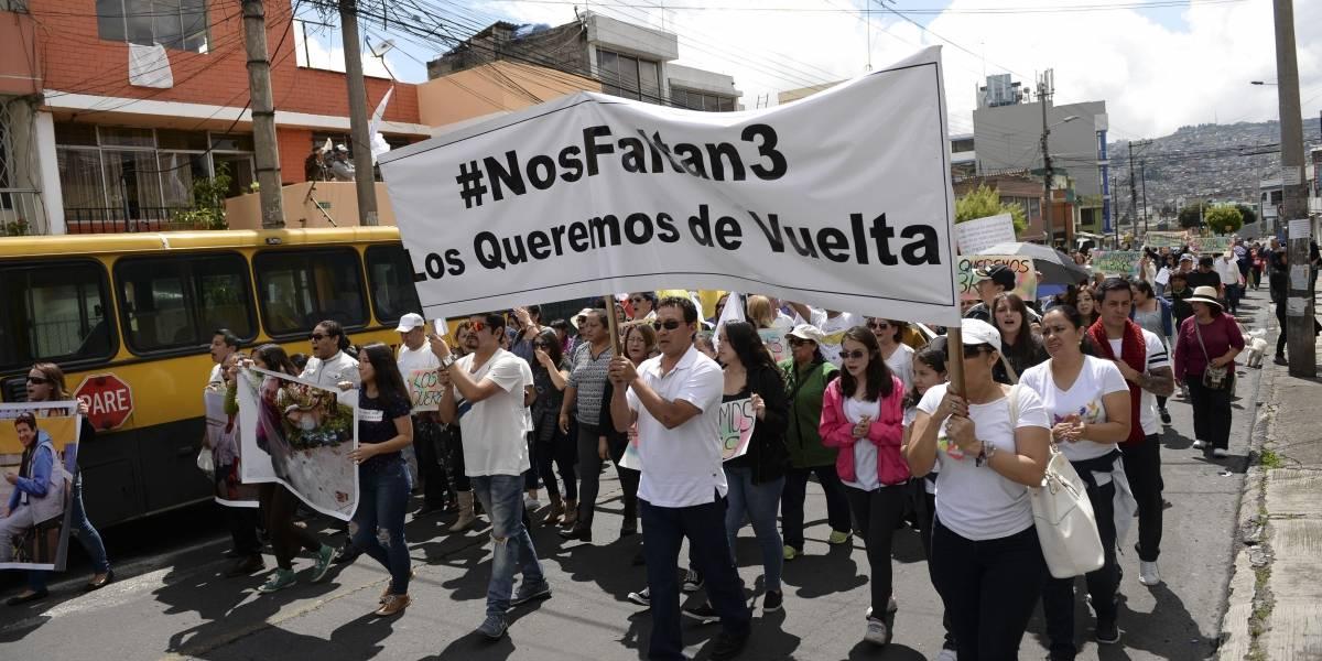 Familiares de periodistas secuestrados piden que su caso no caiga en el olvido