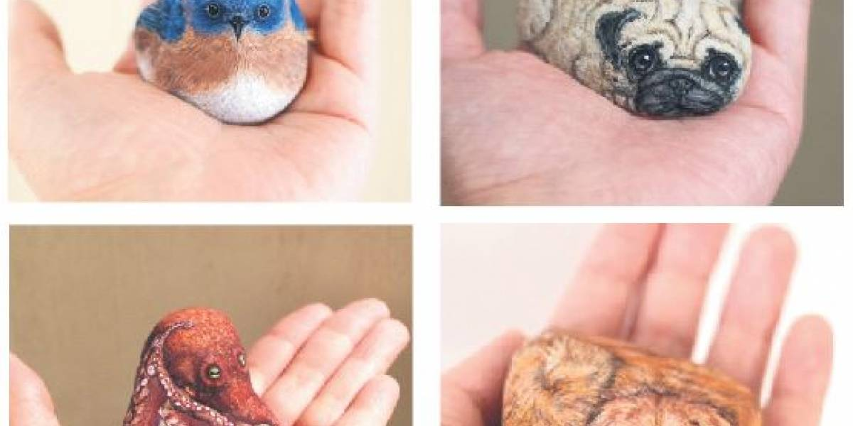 Artista da vida a piedras con diseños increíbles