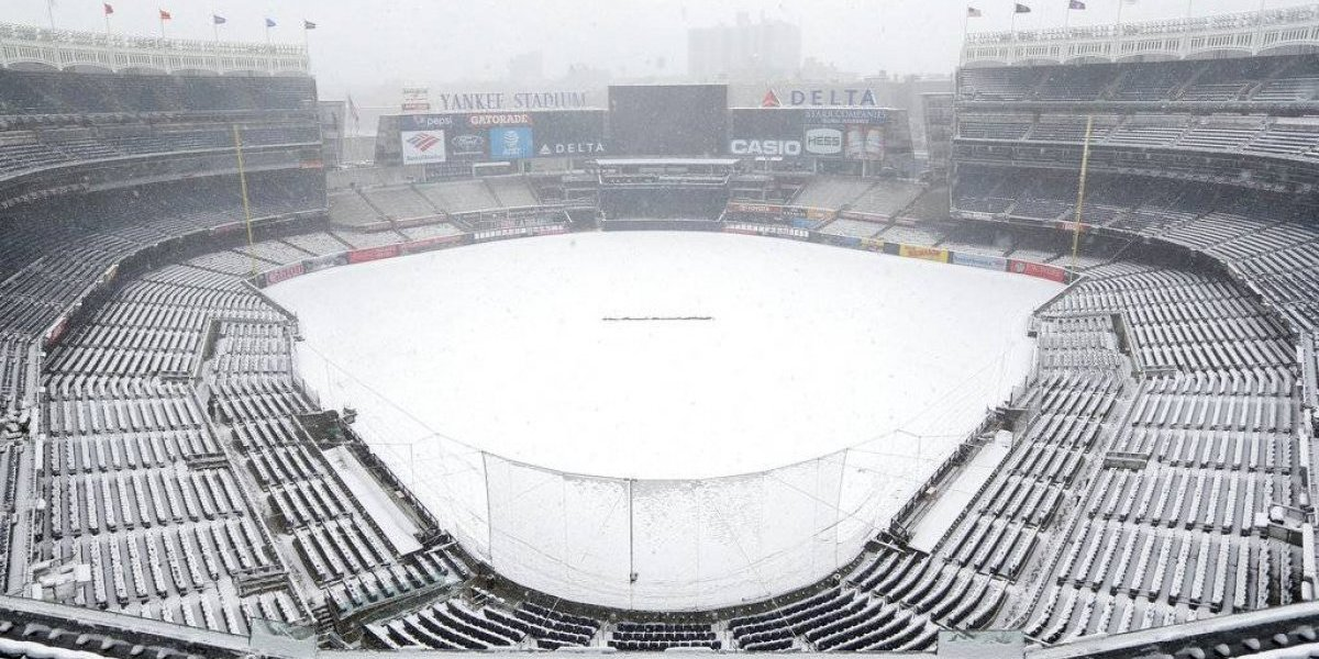Posponen por nieve duelo entre Yanquis y Rays