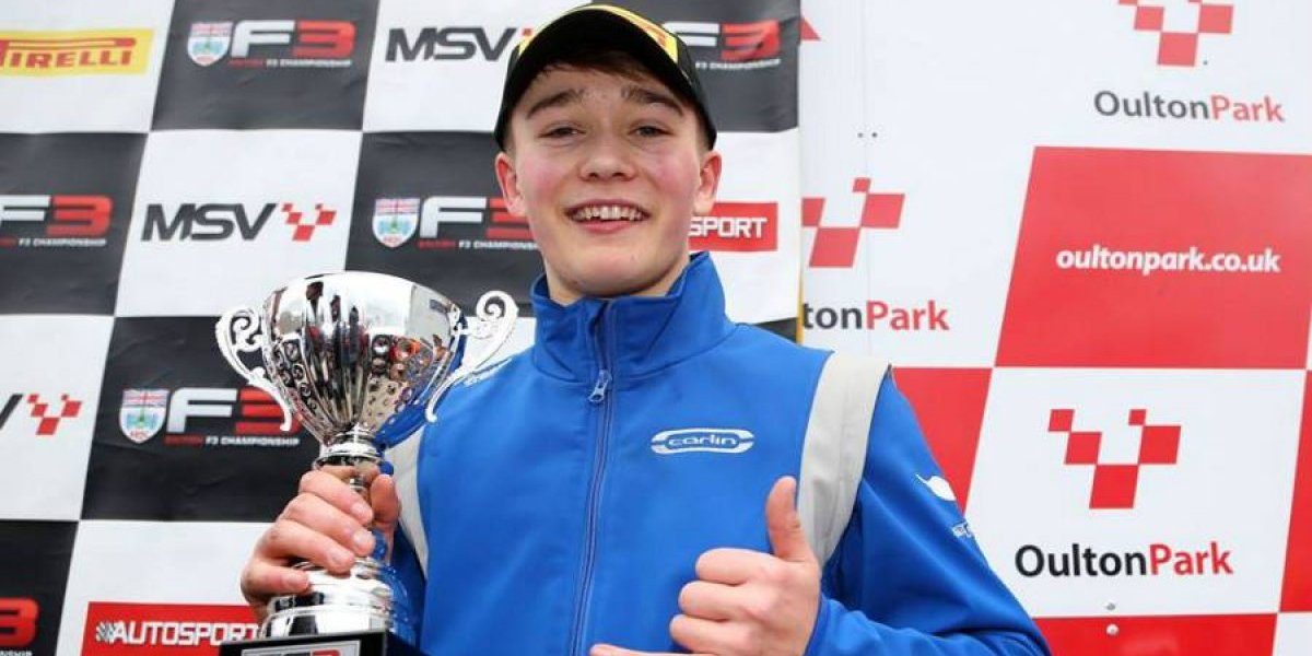 Con un podio volvió a la pista joven piloto amputado en sus piernas