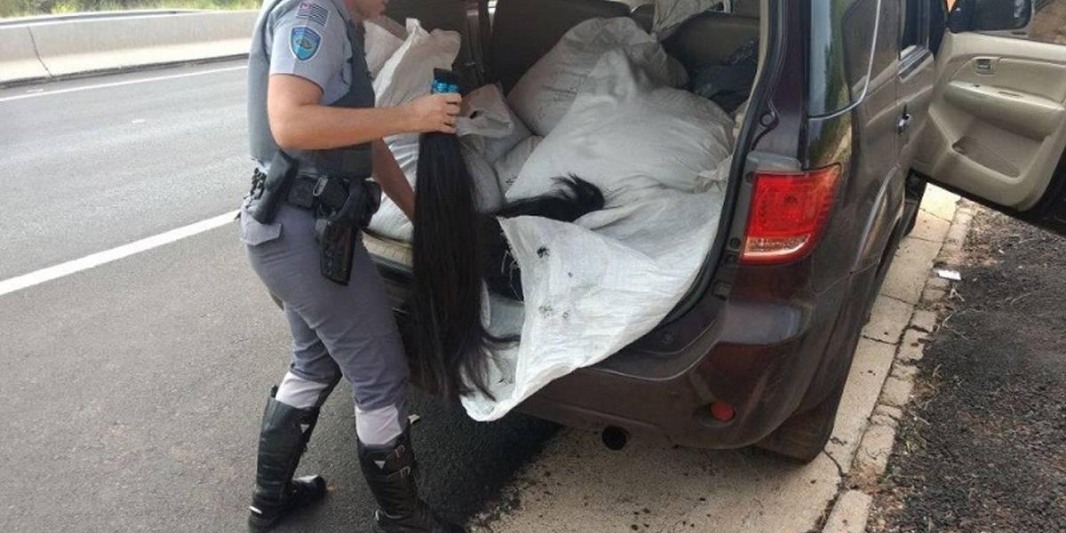 Casal é preso com 227 kg de cabelo no interior de São Paulo