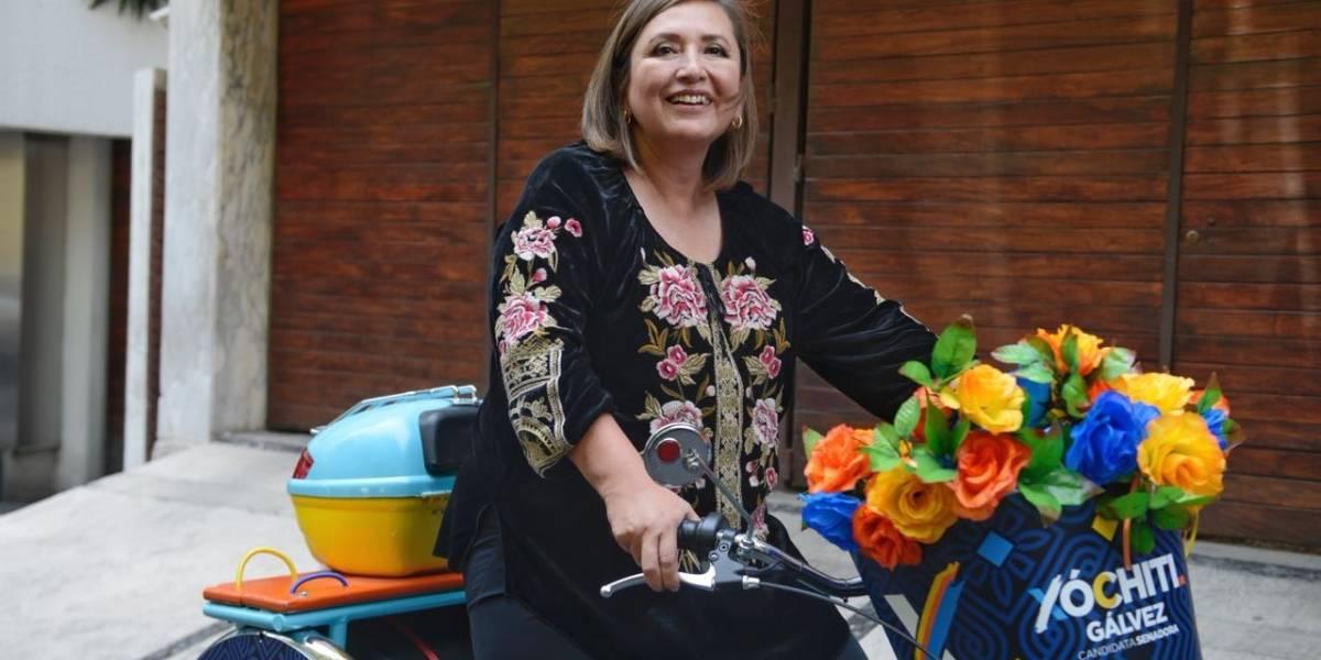 Esta es la 'Xochicleta' en la que Xóchitl Gálvez hará su campaña