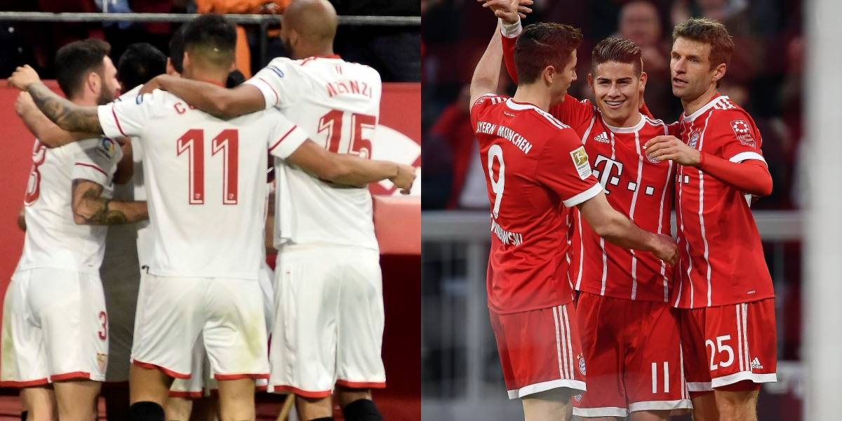 Sevilla recibe al todopoderoso Bayern Múnich por Champions League