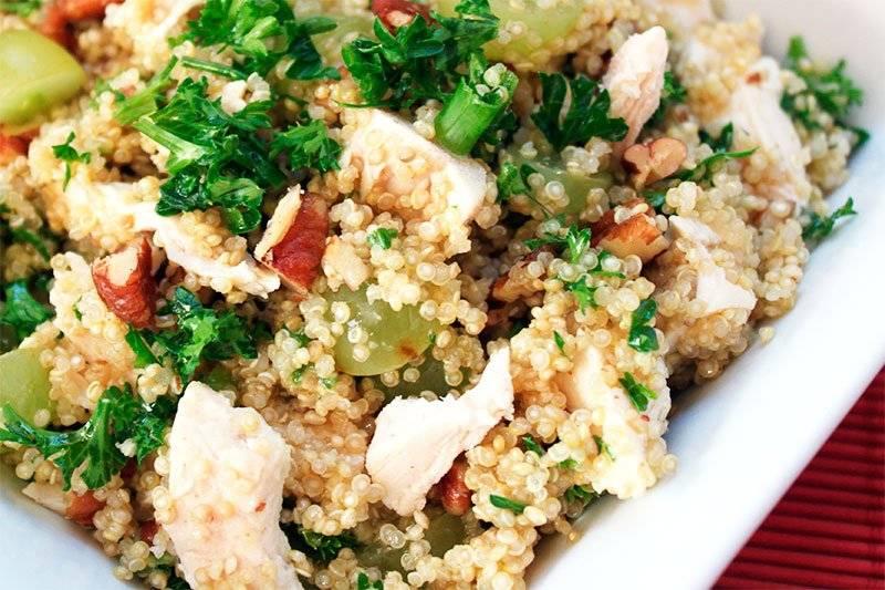 uinoa con pollo y verduras