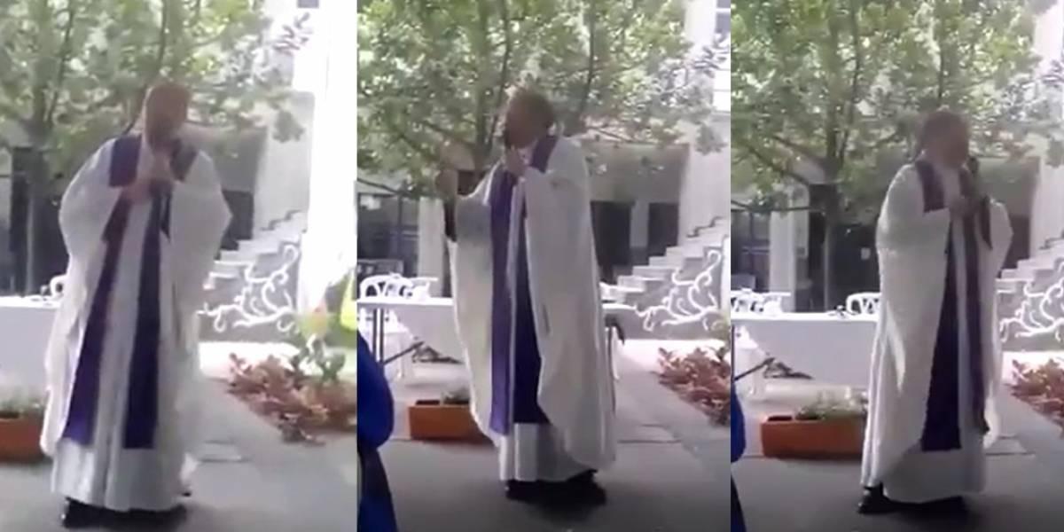 Video: En plena misa, sacerdote habla mal de Álvaro Uribe