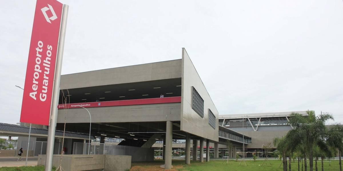 Novo trem para o aeroporto de Guarulhos abre em clima de 'passeio'