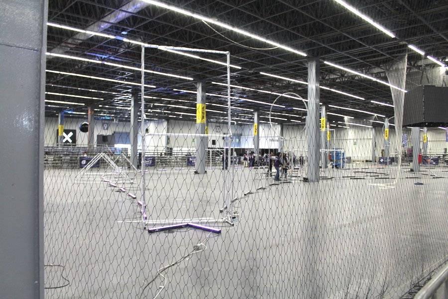Arena para drones. FOTO: Héctor Escamilla