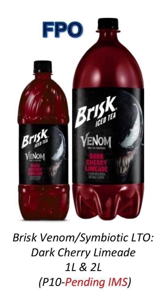 Brisk podría tener listo un té helado promocional para la película de Venom
