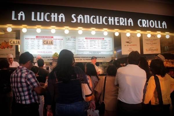 sanguchería peruana La Lucha
