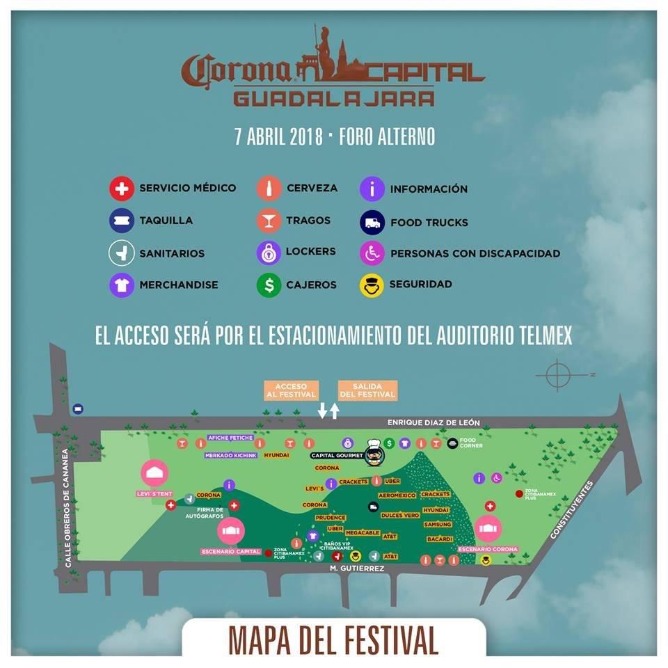 Mapa del festival.