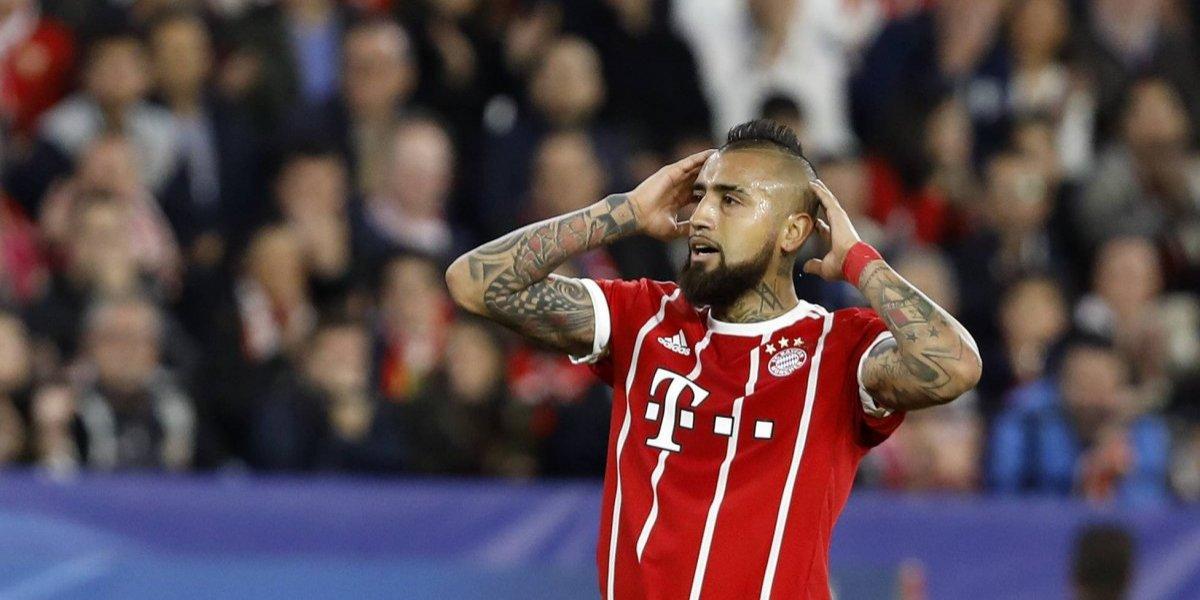 Arturo Vidal enciende las alarmas en Bayern al salir lesionado en la Champions