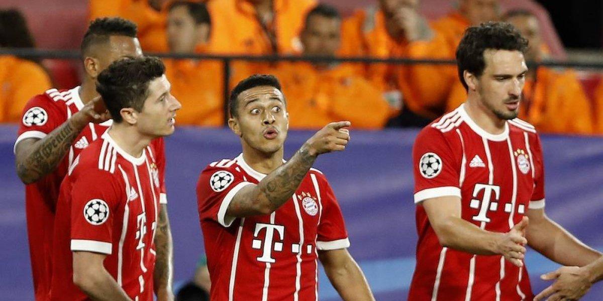 Bayern Munich se acerca a semis tras voltereta sobre el Sevilla