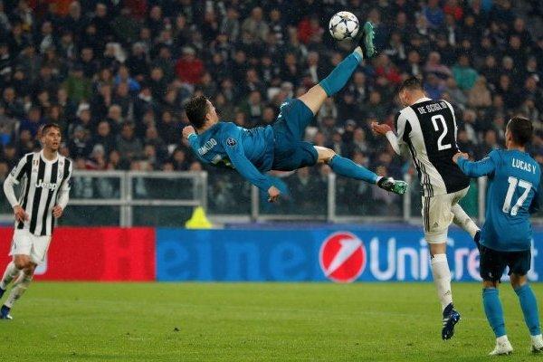 La perfecta chilena de Cristiano Ronaldo / imagen: Twitter Real Madrid