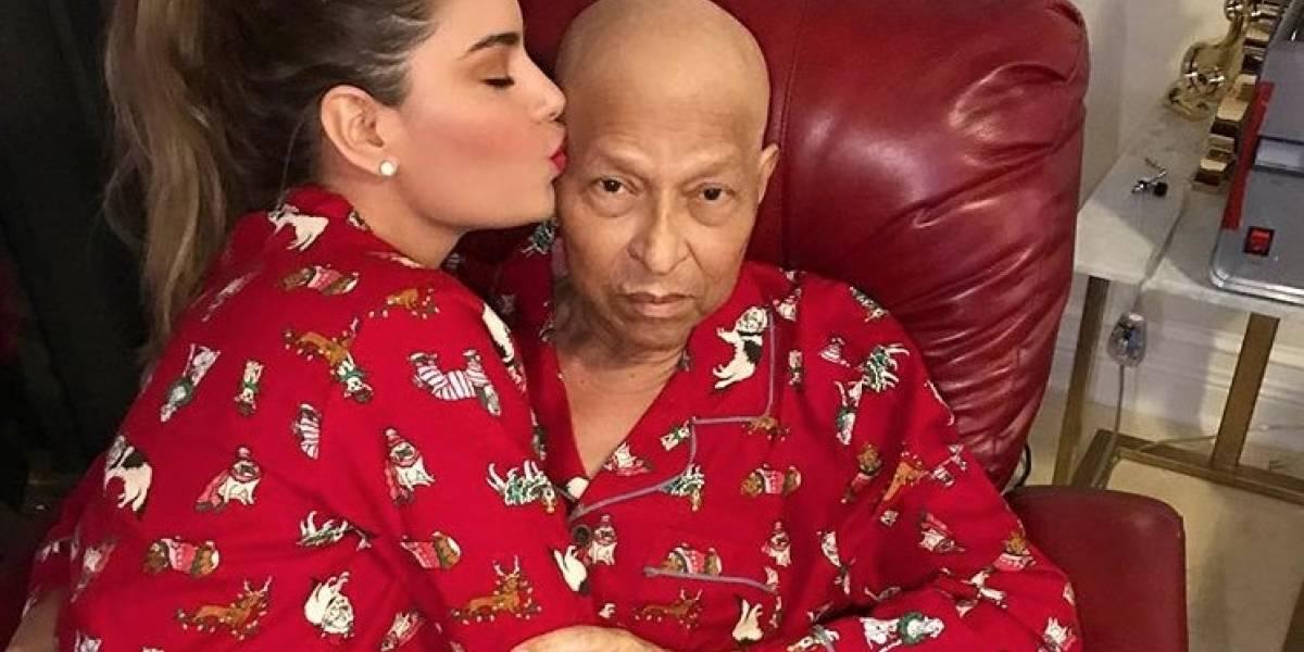 Ariadna Gutiérrez, destrozada por la muerte de su papá