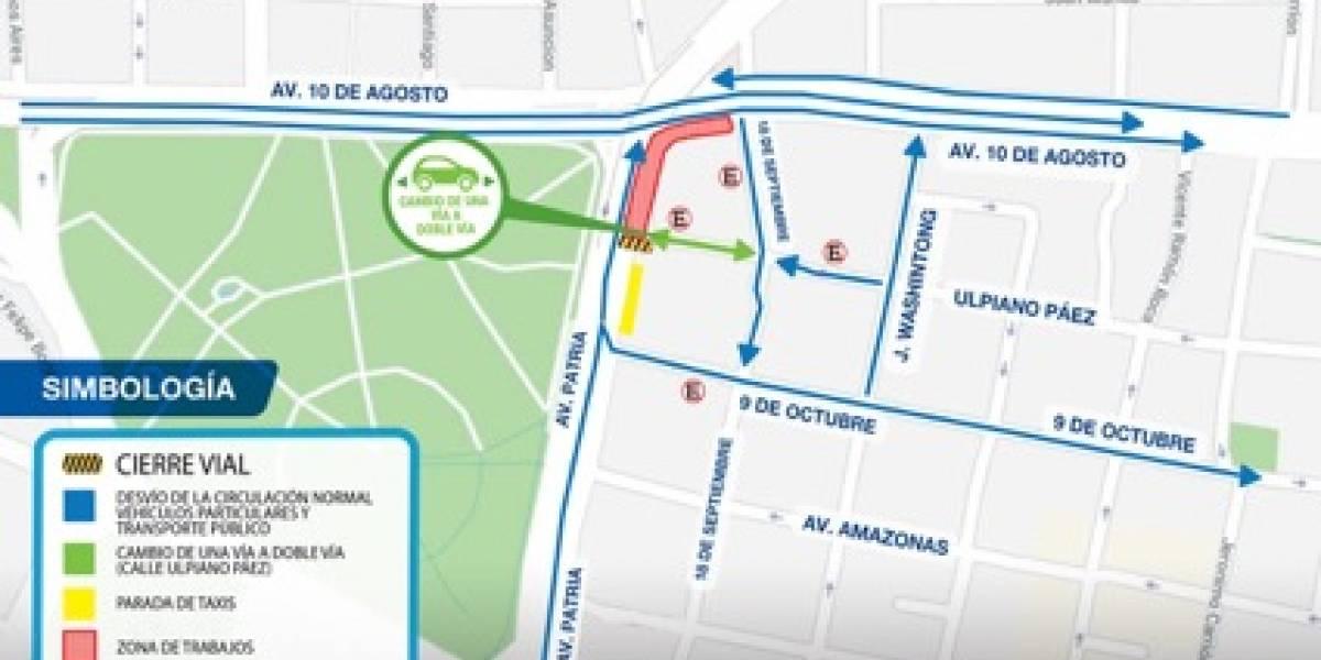 Quito: Se realiza cierre parcial en las avenidas Patria y 10 de Agosto