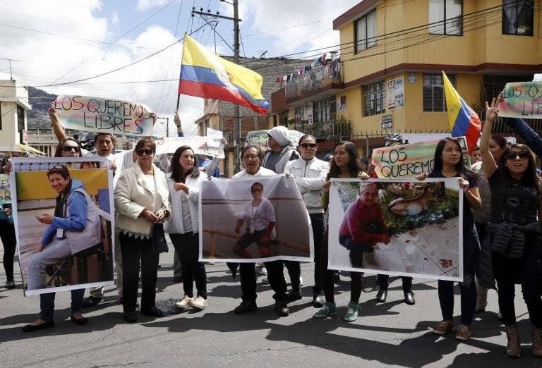 Piden liberación de periodistas ecuatorianos secuestrados