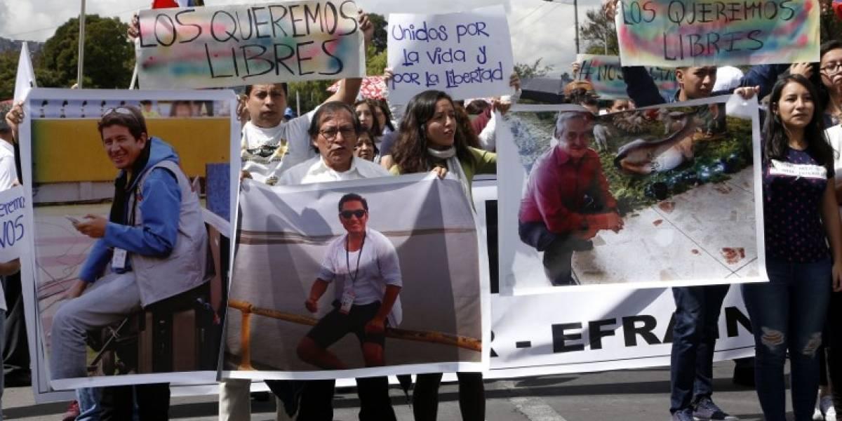 Difunden video de periodistas ecuatorianos secuestrados