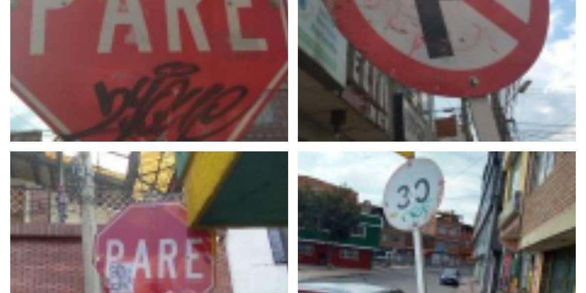Conozca las alarmantes cifras en Bogotá de señales de tránsito en mal estado
