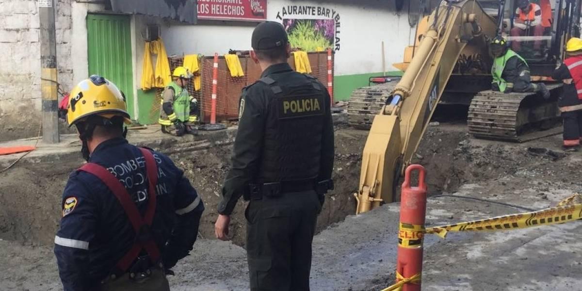 Mueren dos trabajadores en una obra pública en la ciudad de Medellín