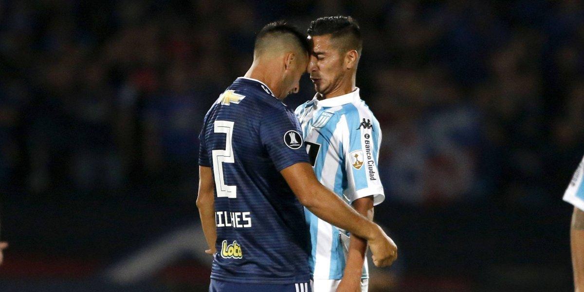 """La U buscó hasta el final y en un partido """"caliente"""" empató con Racing en el Nacional"""