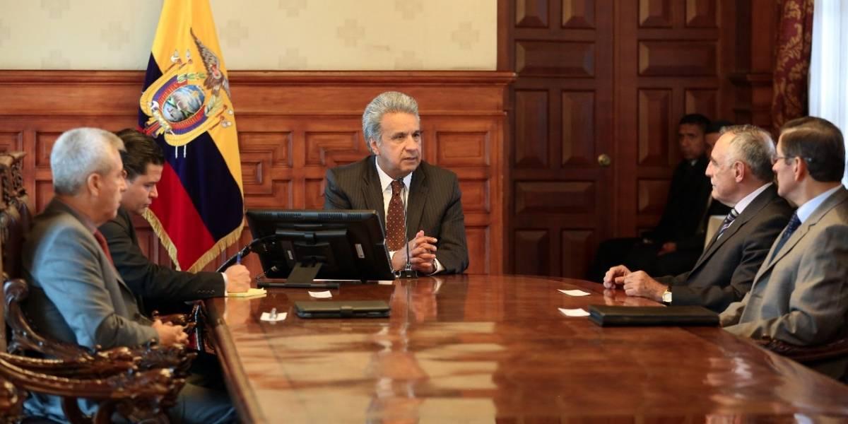 Lenín Moreno se reunió con exgenerales para conformar un consejo de asesores de seguridad