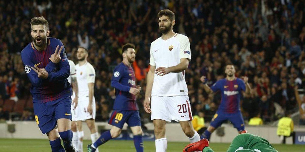 Barça tiene un pie en semis de la Champions League