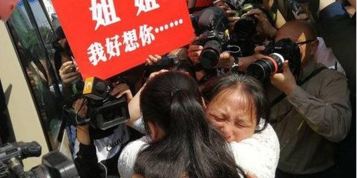 A família chinesa que encontrou filha perdida após 24 anos de busca