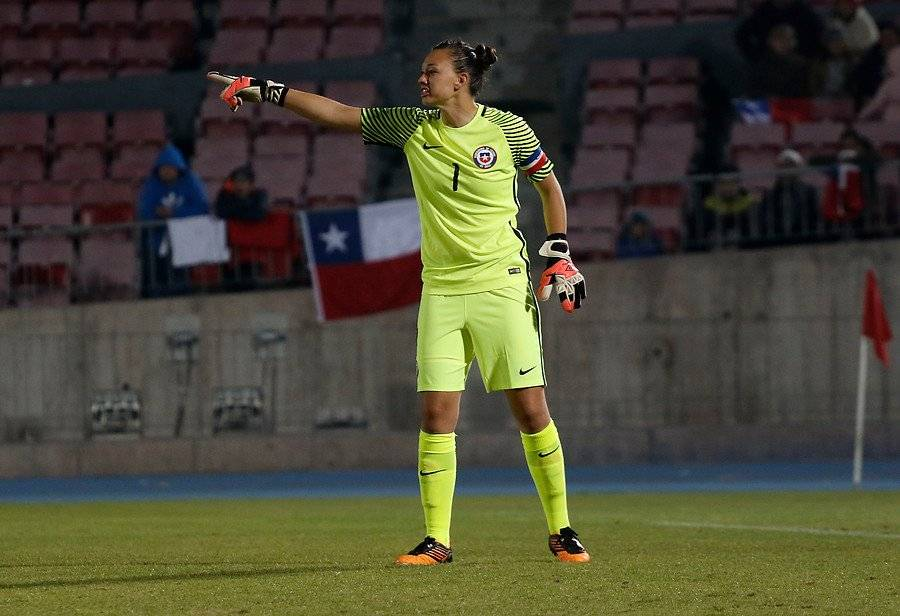 La guardameta Christiane Endler es la capitana de la Roja / Foto: Agencia UNO