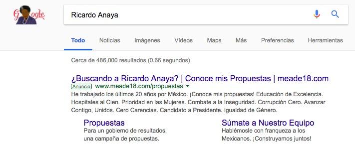 México: candidato presidencial del PRI está comprando publicidad en Google para aparecer si buscan a sus rivales