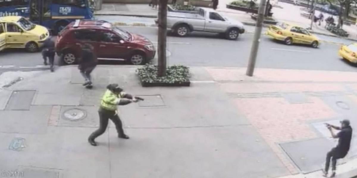 Así cayó líder de la banda que se enfrentó a tiros con patrullera en el centro de Bogotá
