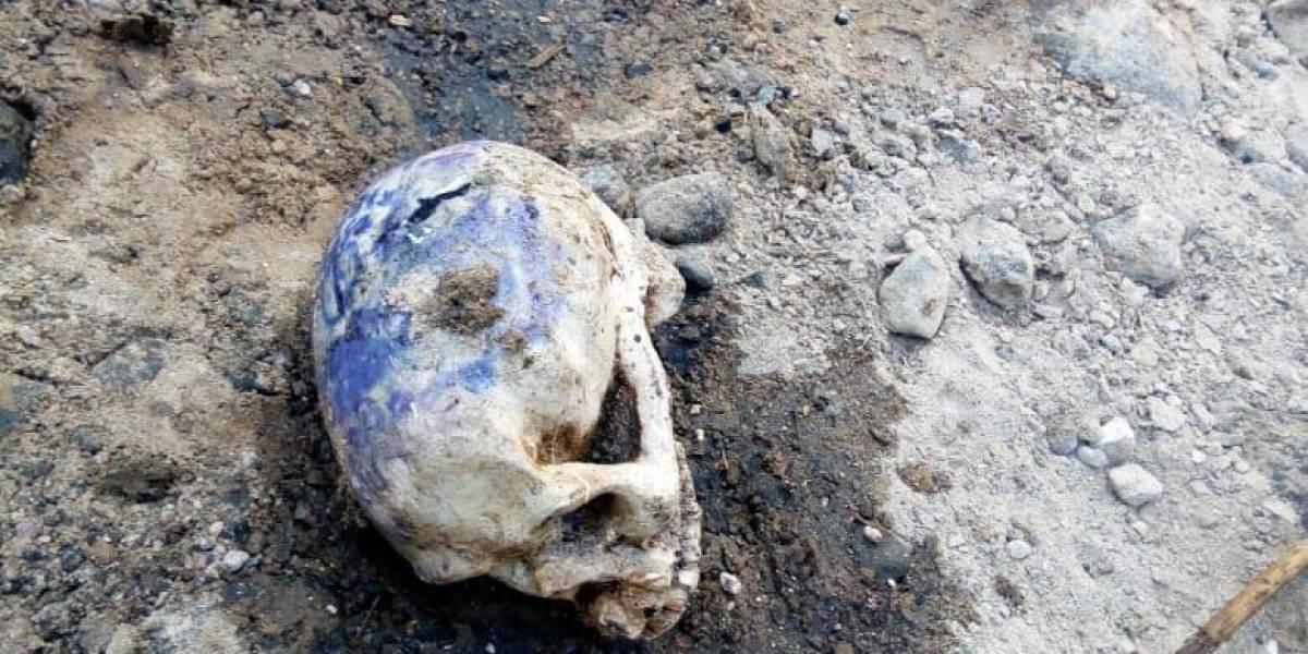 Cráneo humano encontrado en Villa Nueva no era lo que pensaban