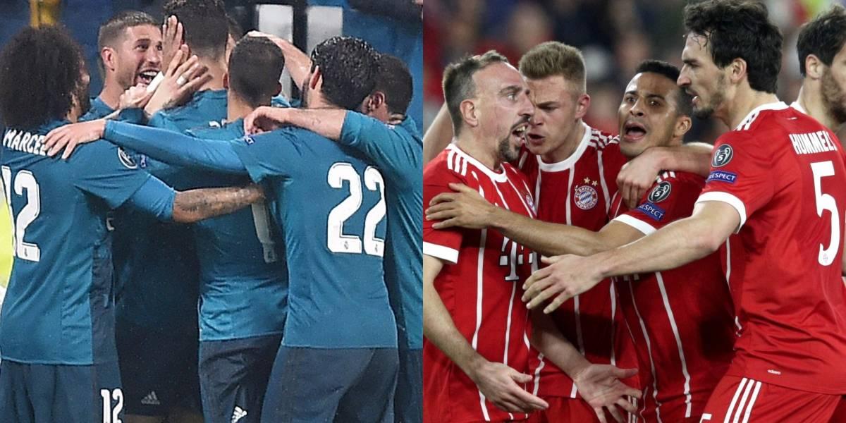 Bayern Múnich y Real Madrid no dieron espacio para sorpresas