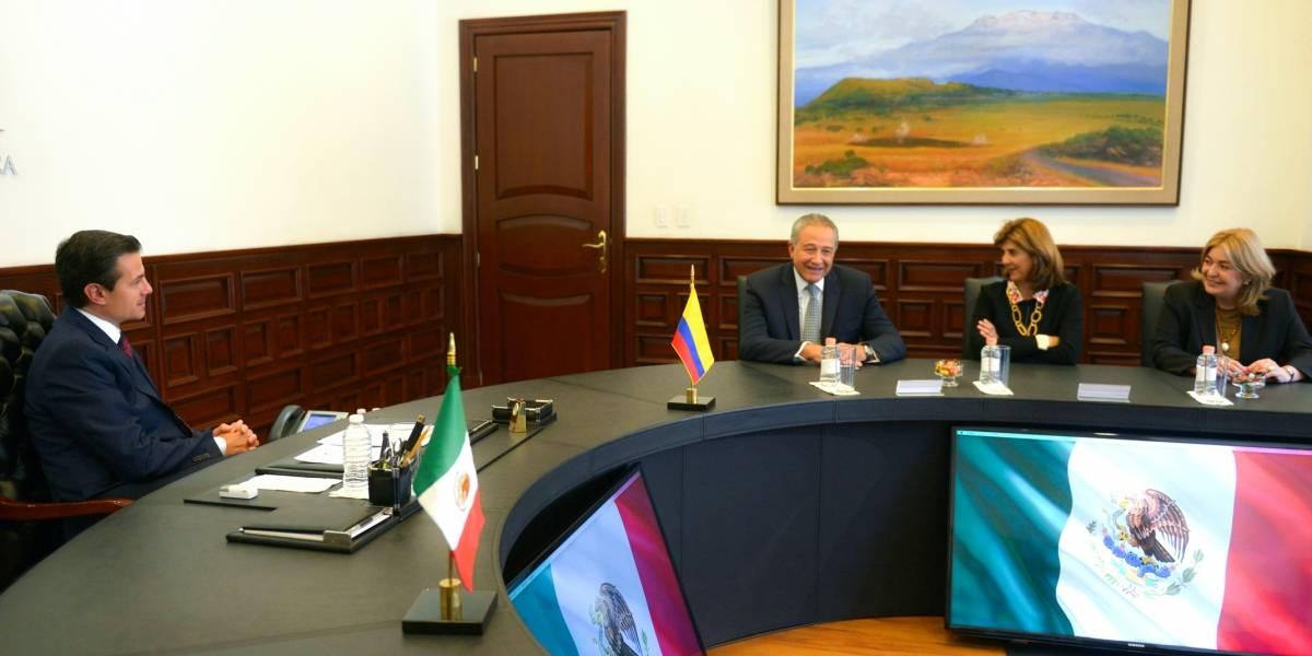 Peña Nieto dialoga con el vicepresidente de Colombia sobre combate al crimen organizado