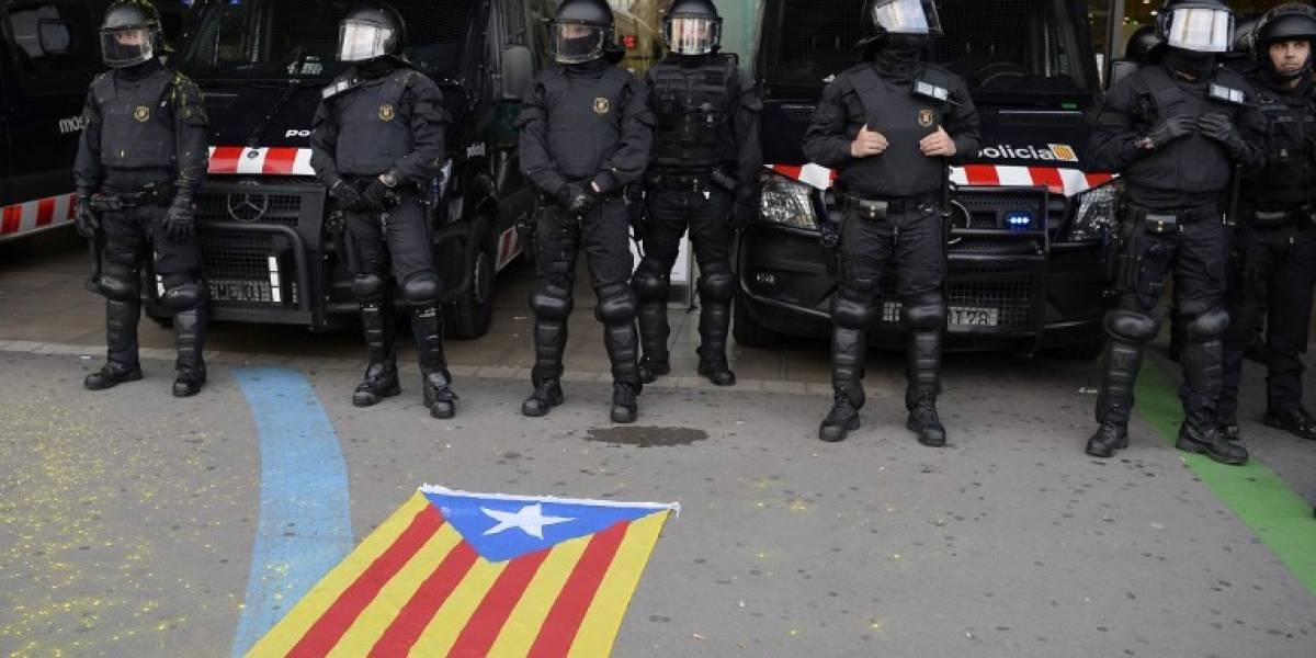 Refuerzan la seguridad en Cataluña por las crecientes protestas