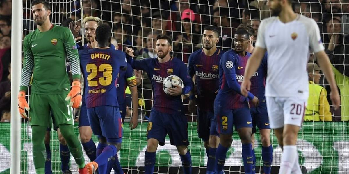 El Barça golea a la Roma y pone un pie en semifinales de la Champions