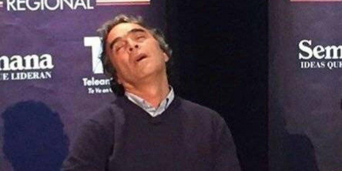 ¿Sergio Fajardo se quedó dormido en el debate?