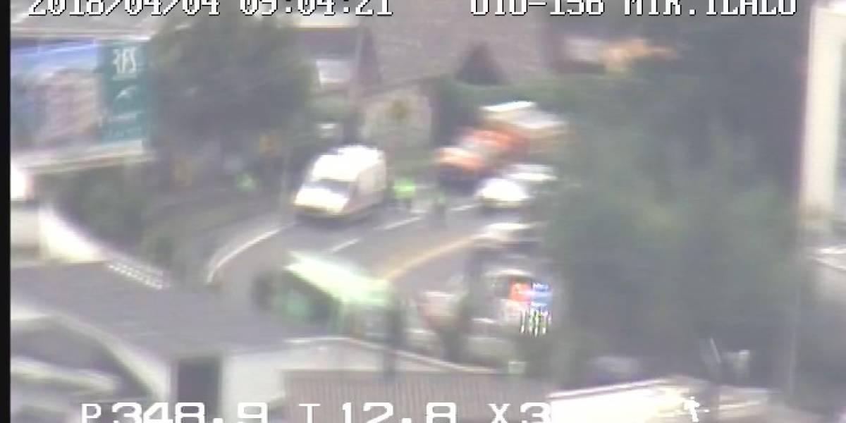 Accidente de tránsito en Miravalle, Cumbayá