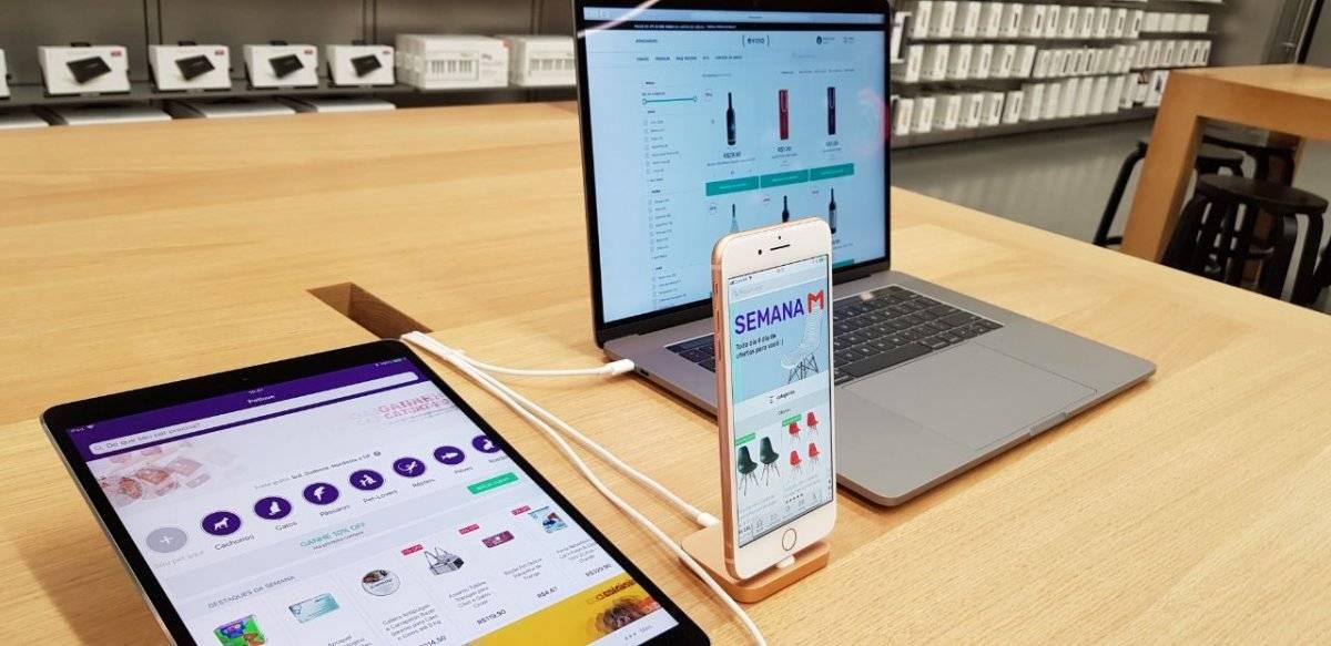 O Apple Pay pode ser acessando tanto em lojas físicas quanto virtuais Tercio David/Metro Jornal