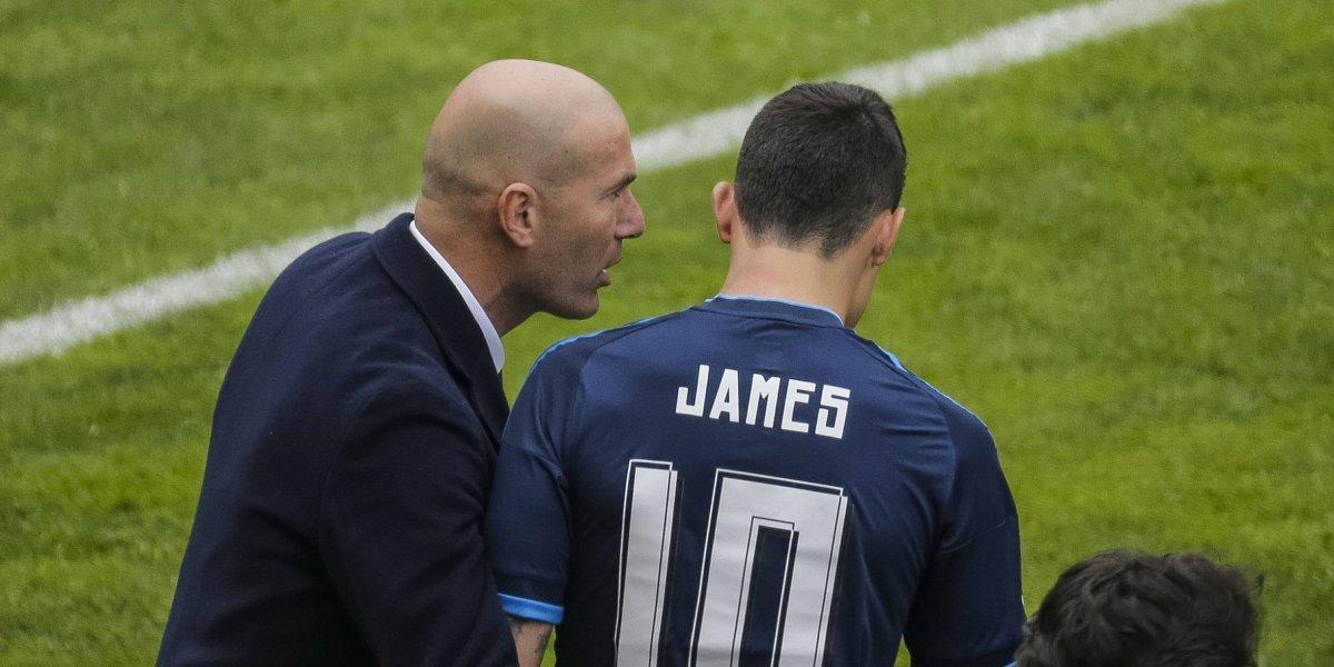 ¡Insólito! Zidane quiere que James se vaya con él al Manchester United