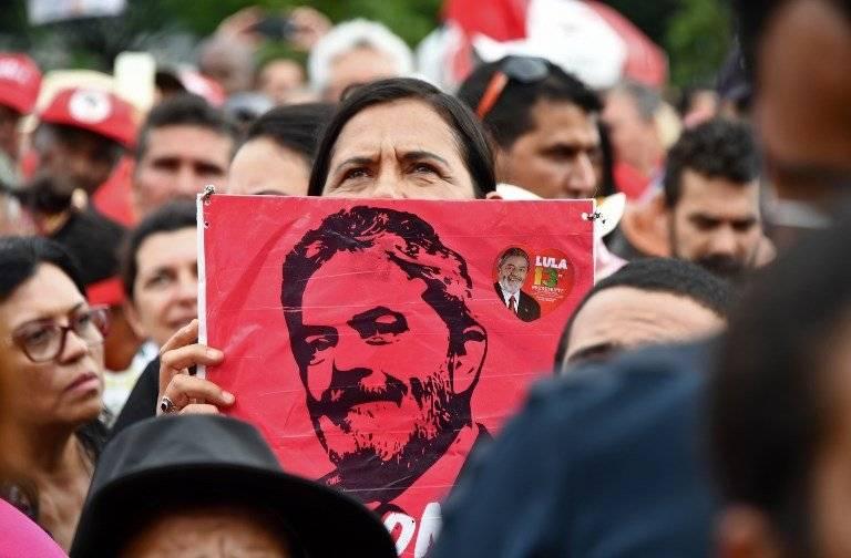 Apoyo a Lula da Silva en Brasil