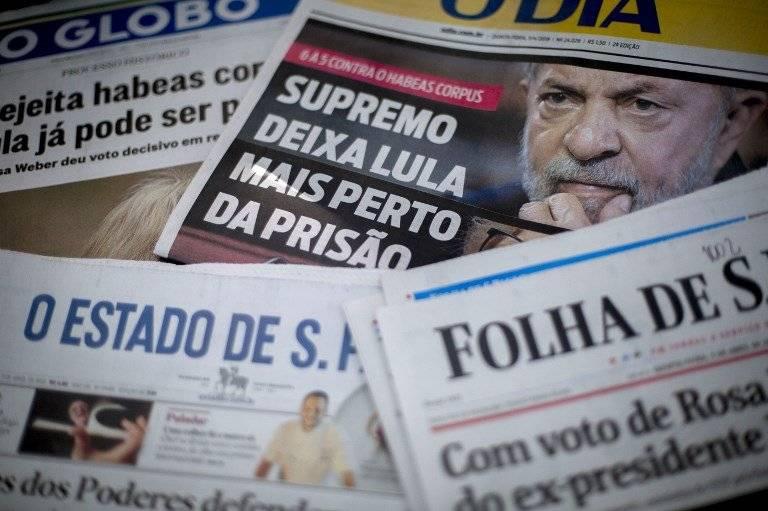 Medios reaccionan a situación de Lula da Silva