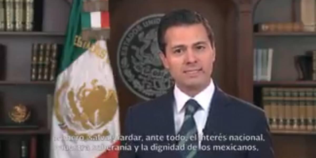Presidencia traduce al inglés el mensaje de Peña Nieto para Donald Trump