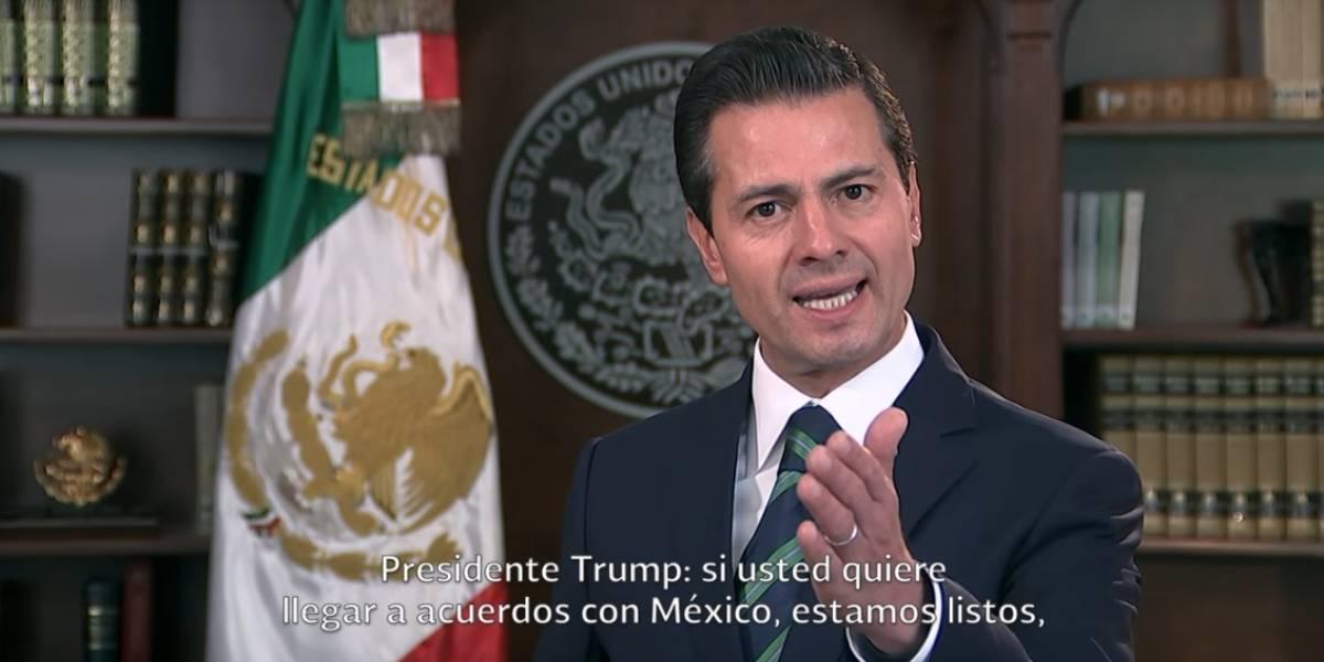 Presidenciables aplauden respuesta de Peña Nieto frente a propuesta de Trump