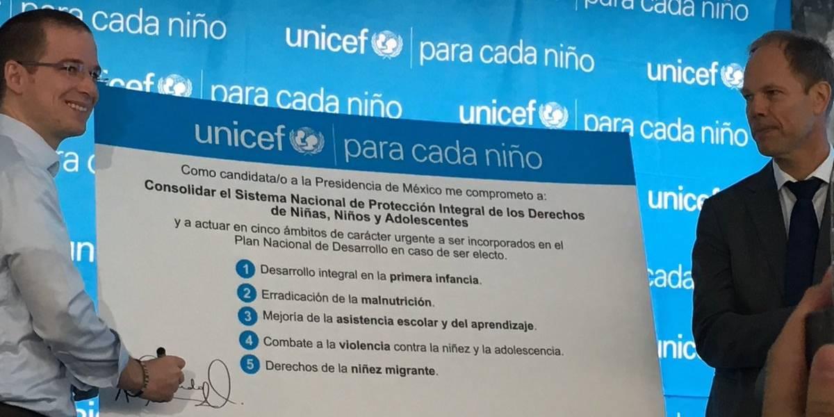 Presidenciables se comprometen ante la UNICEF con la niñez de México