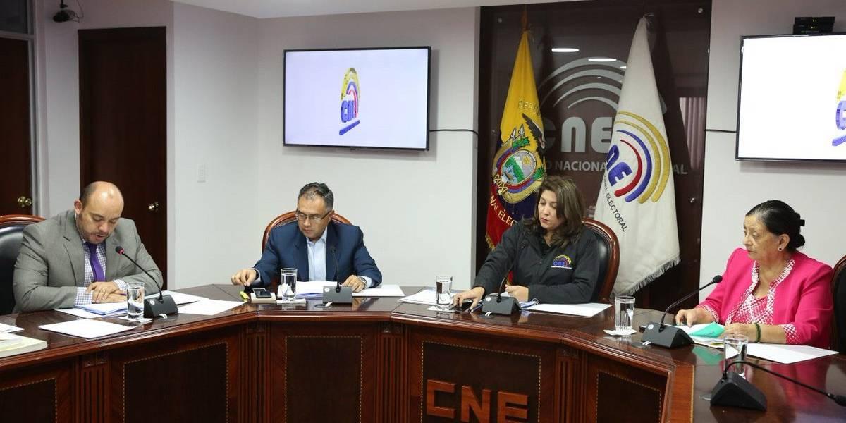 CNE no aprueba inscripción de movimiento afín a Correa