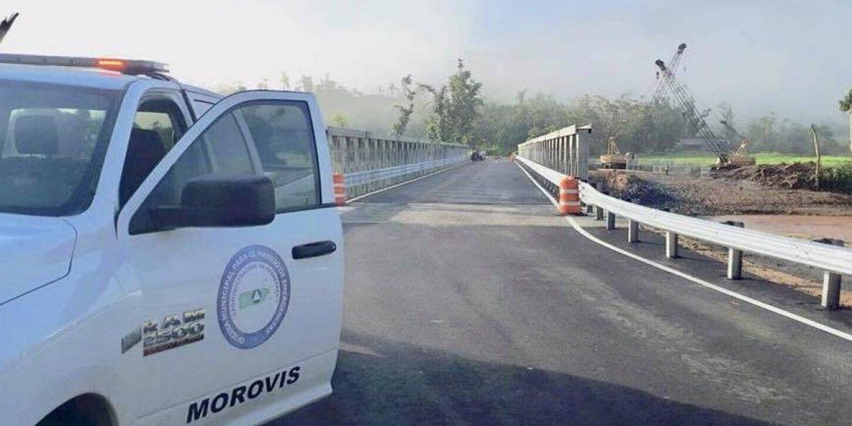 Abierto al tránsito puente provisional en Morovis