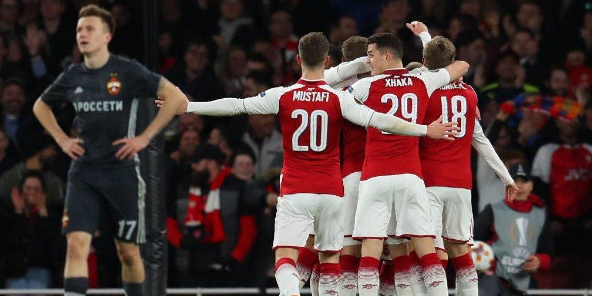 Arsenal, Atlético de Madrid, Lazio y Leipzig se encaminan a semis de la Europa League