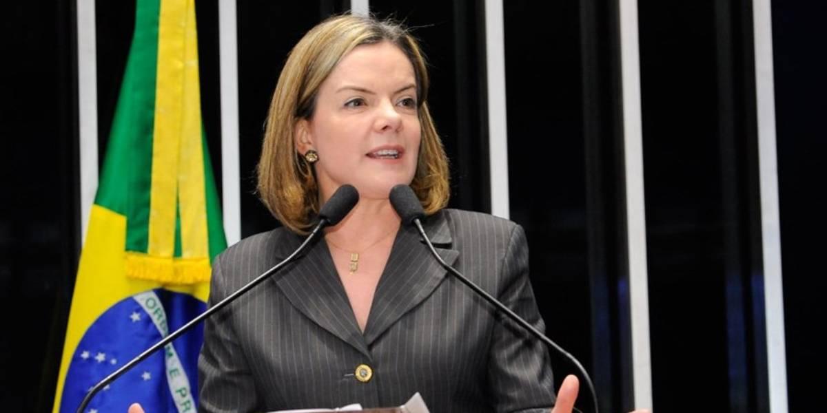 Gleisi muda nome no Senado para 'Gleise Lula Hoffmann'