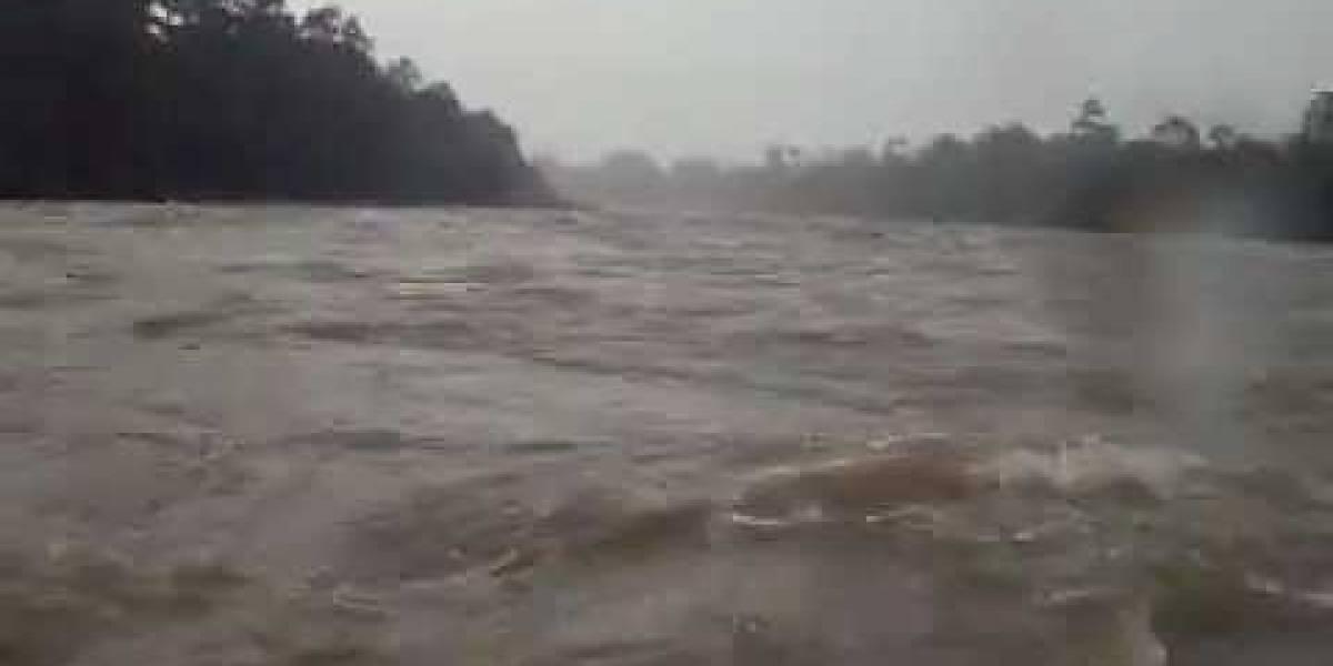 Tres desaparecidos en río Quinindé