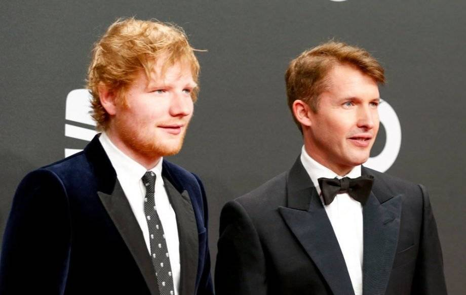 James Blunt y Ed Sheeran